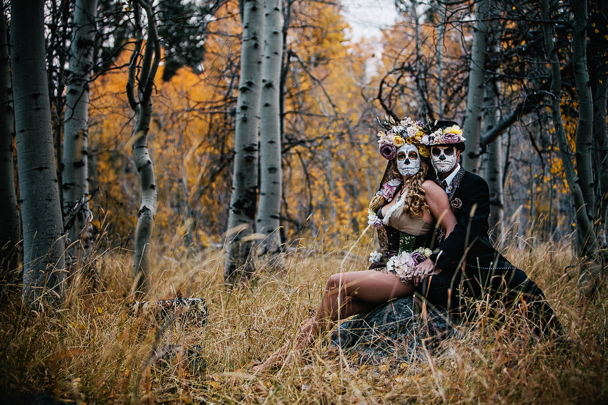 Asha + Andrew | Day of the Dead Portrait Session